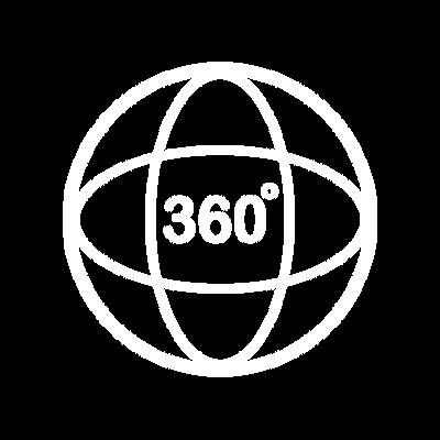 Ícone Monitoramento real em 360º